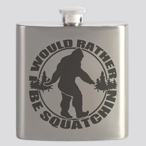 Rather be Squatchin Flask